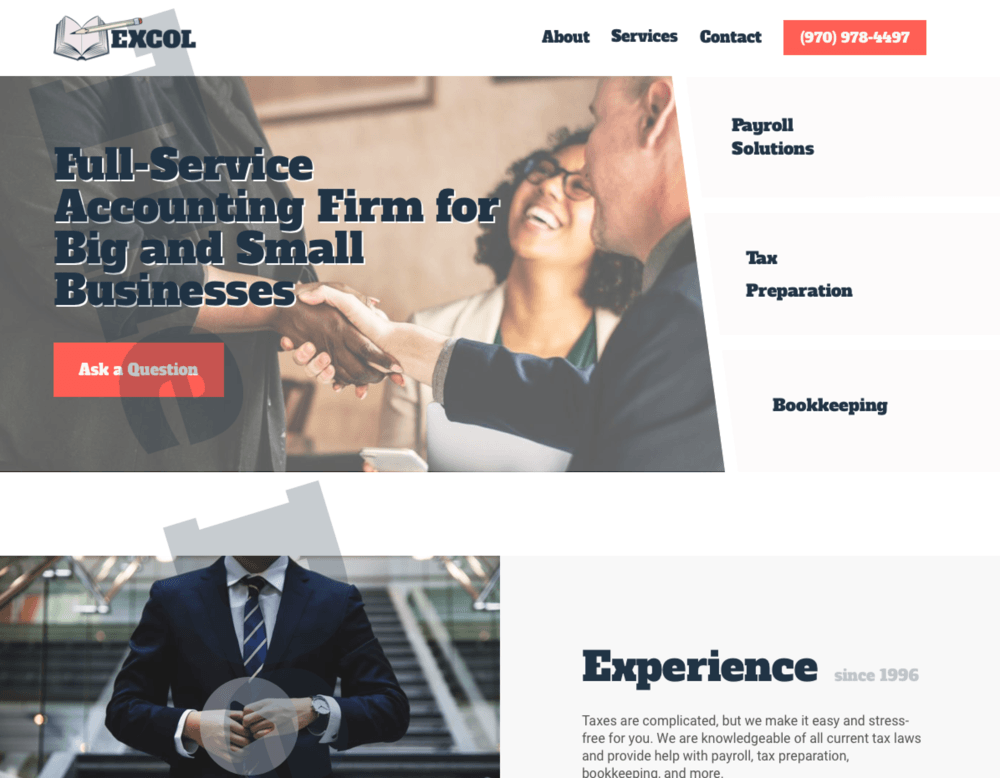 Accounting Firm Website Design by The Designer Developer